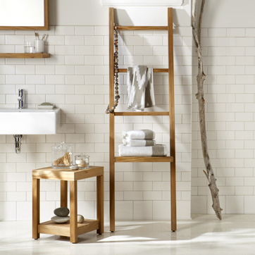 Escada porta toalhas wood second chance - Scala decorativa ikea ...