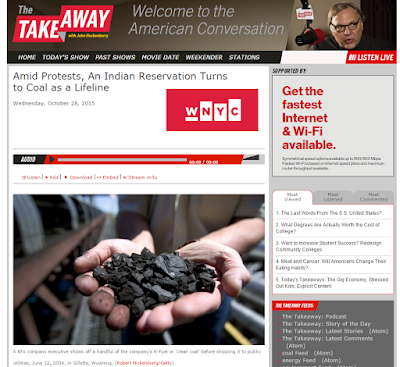 Screenshot of Report on WNYC The Takeaway