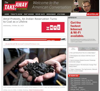 Screenshot of Report on WNYC The Takeaway