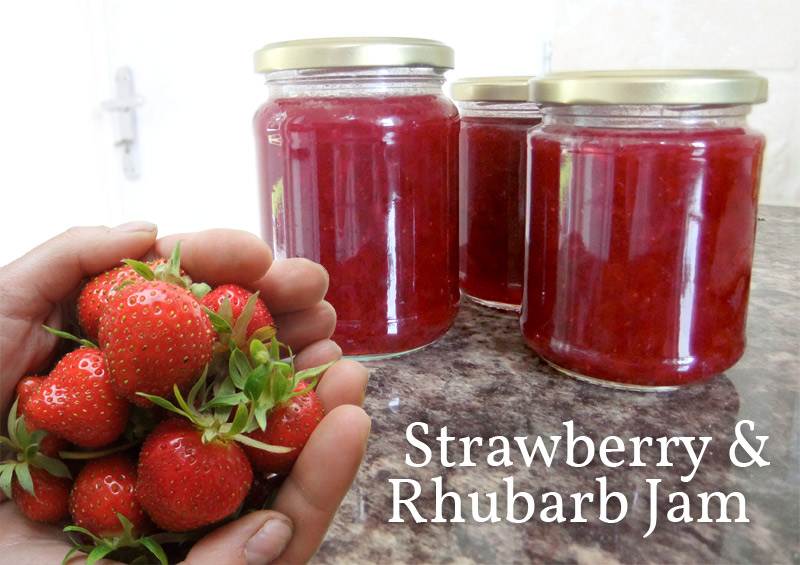 ... strawberry and rhubarb pie it s strawberry and rhubarb jam though i