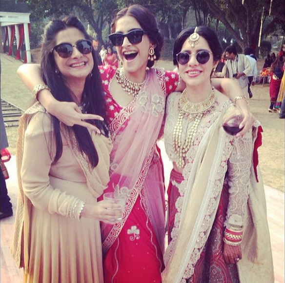 Sonam Kapoor attending a family wedding at Delhi, Instagrammed this pic