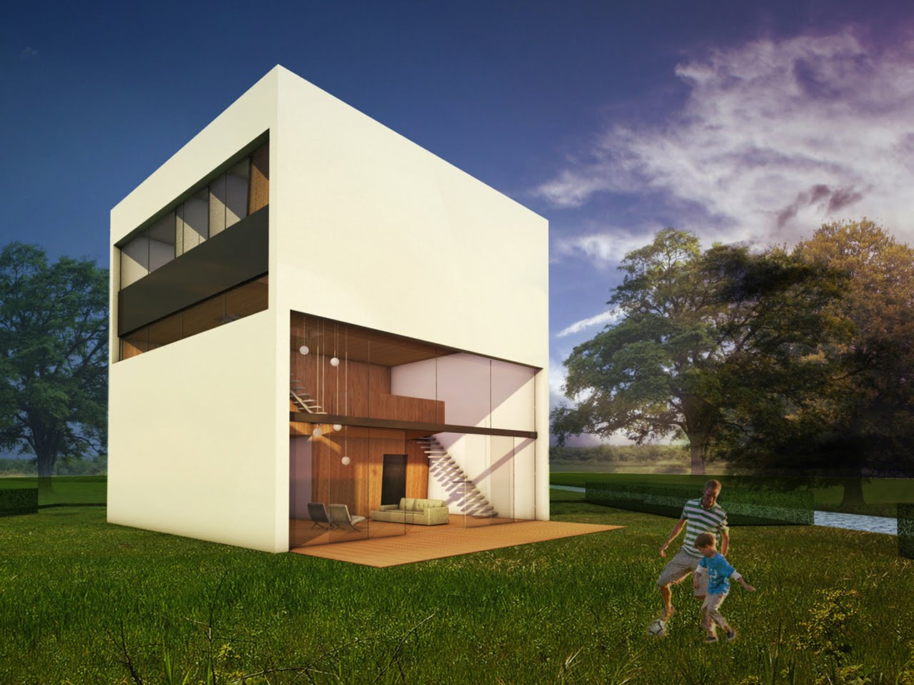 Modern box home design ideas interior and home design ideas for Box style house plans
