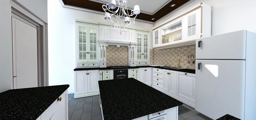 Jasa interior eksterior 3d oktober 2013 for Kitchen set mewah