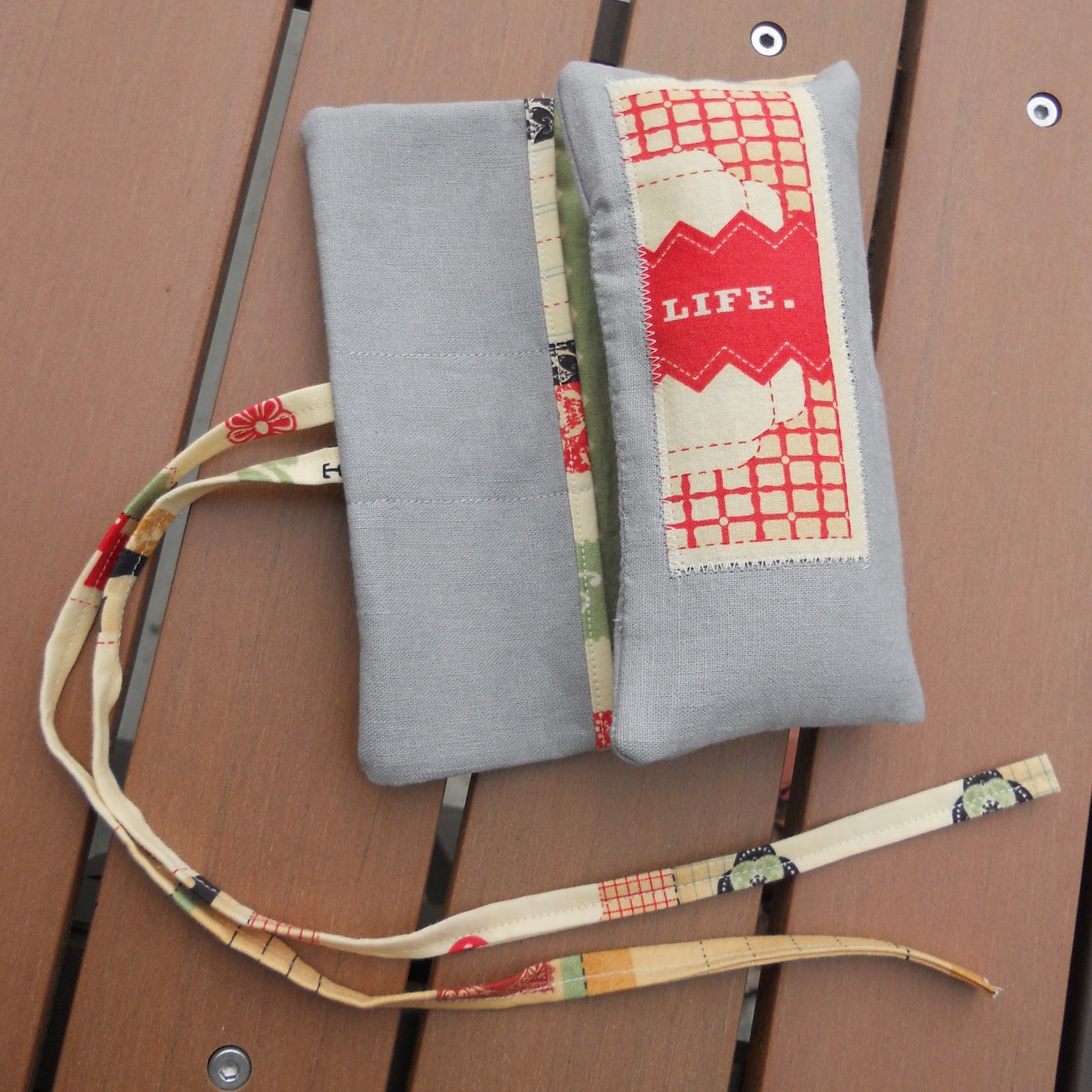 Book Cover Sewing Kit : Fabric mutt zakka sewing kit