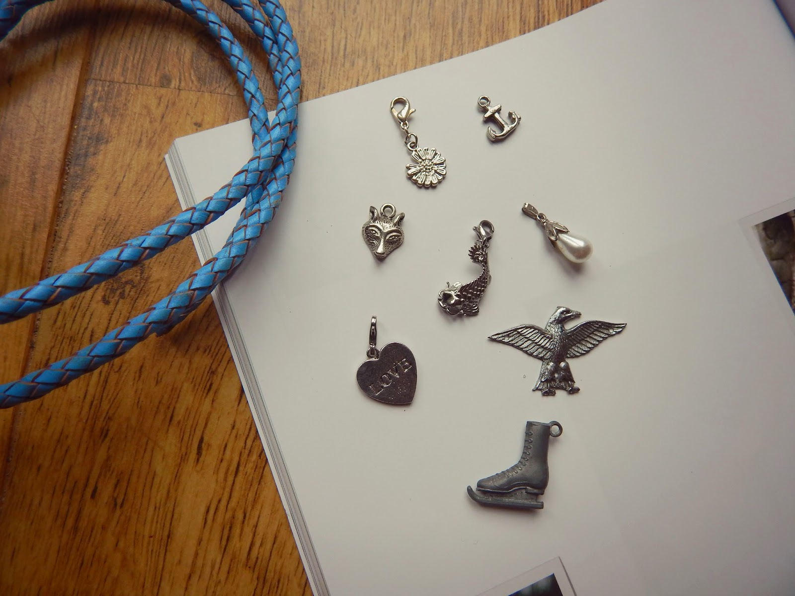 DIY Leather Cord Charm Bracelet
