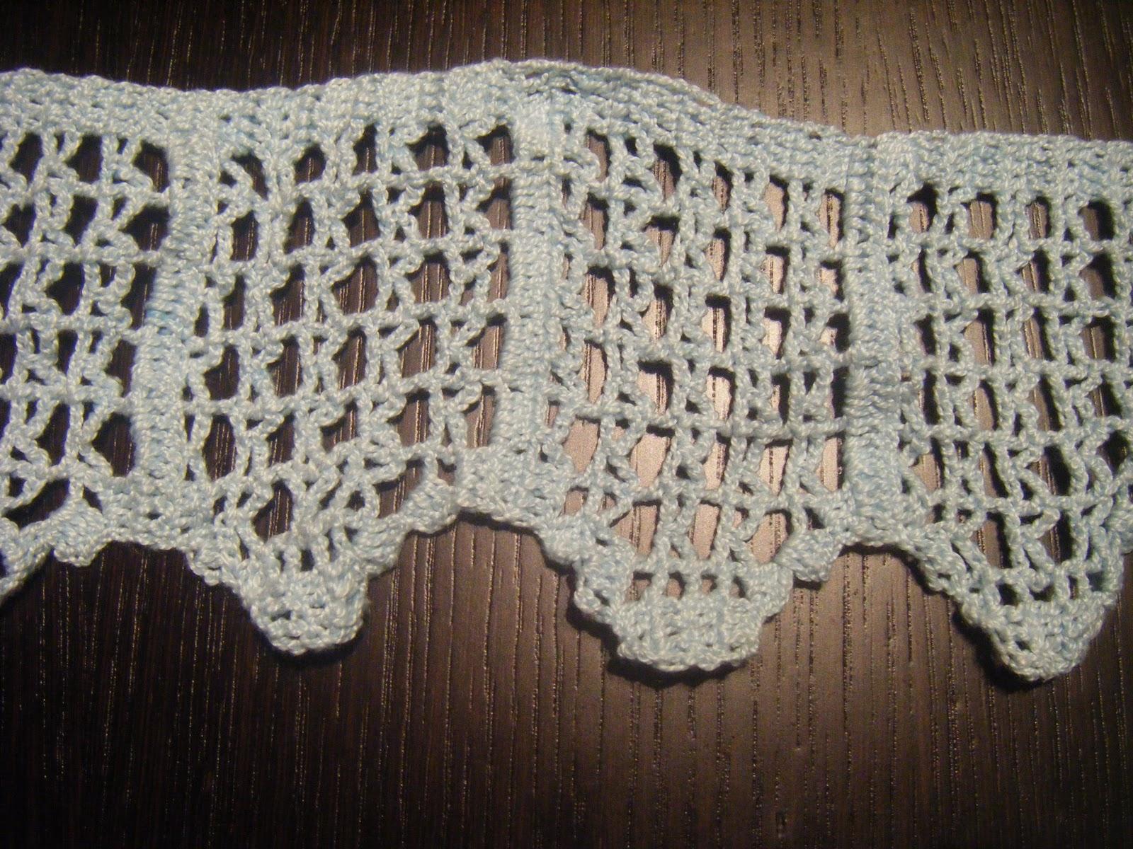 Crochet junto al fuego muestras de puntillas para toallas - Puntillas para sabanas ...