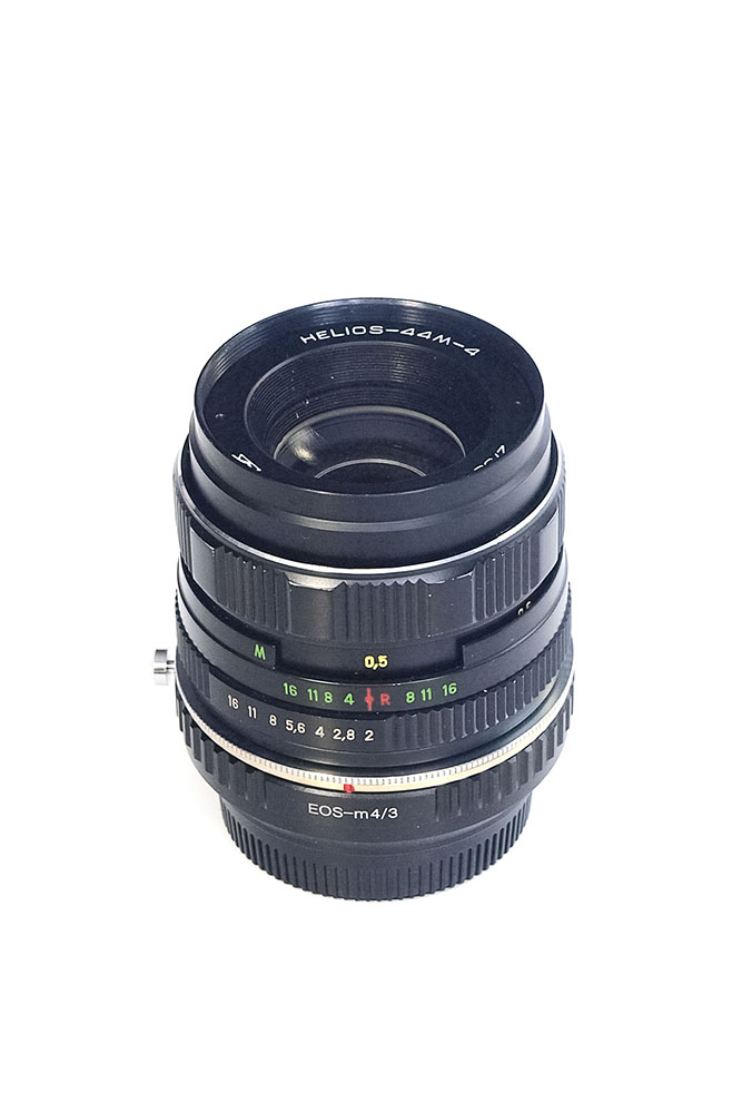 Focal Reducer 0.72x with EF mount for Micro Four Thirds (MFT M4/3) with M42 lens - Helios 44M-4