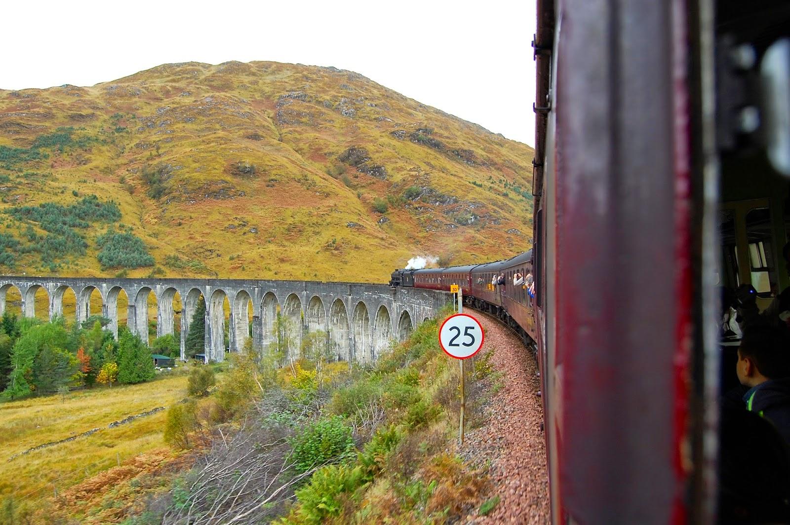 Crossing the Glenfinnan Viaduct