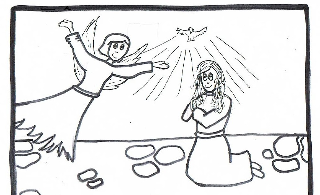 Ray Chill S World The Joyful Mysteries Coloring Pages By