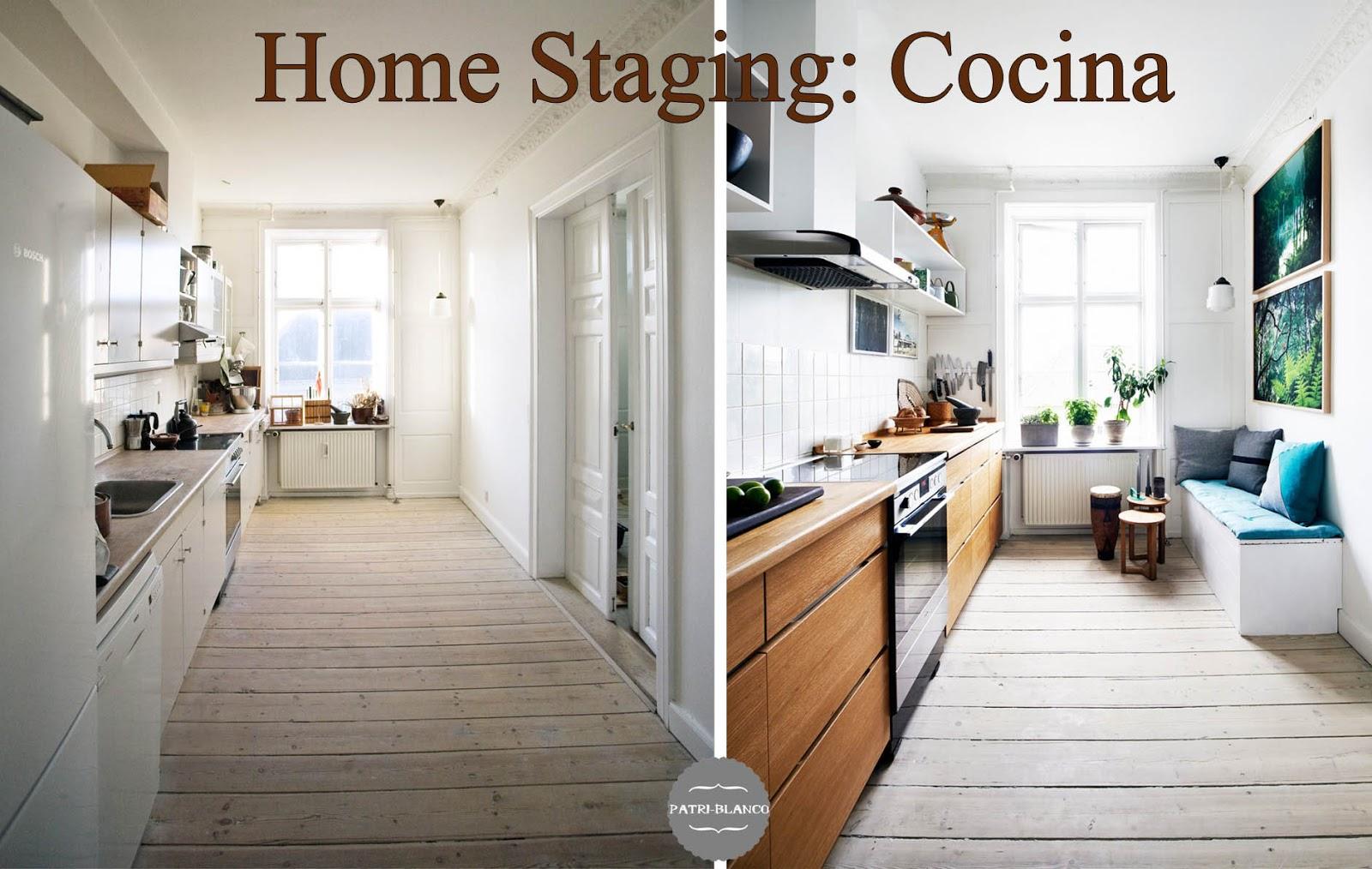 Antes y después de una cocina (home staging) | Decoración Patri-Blanco