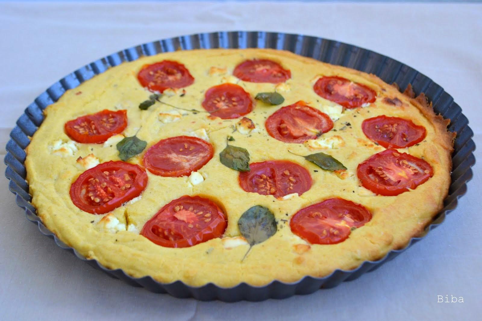 Kukuričný koláč s paradajkami