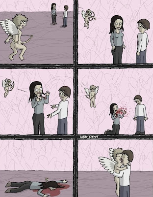 funny cupid and valentine day