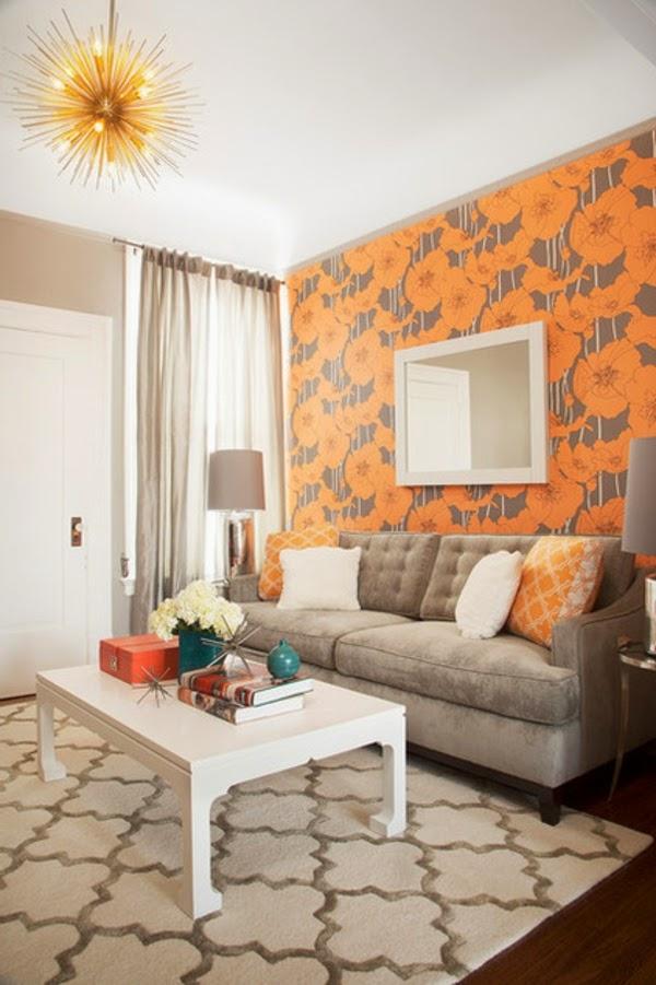 Sala De Estar En Naranja ~ Salas decoradas con toques naranjas  Salas con estilo