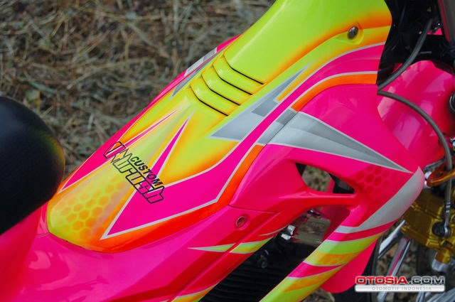 Contoh Modifikasi Satria FU Airbrush Makin Kiclong Terbaru 2014