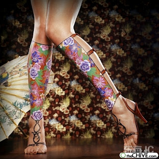 Body paint Flowers in Feet