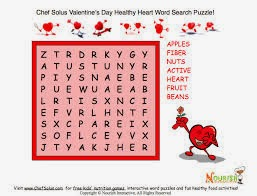 Easy Valentine Word Search 4