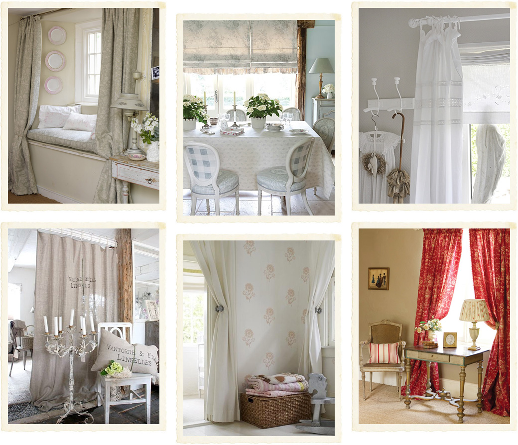 La scelta delle tende shabby chic interiors for Tende country chic
