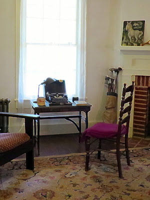 William Faulkner's writing table and typewriter at Rowan Oak, Oxford, MS