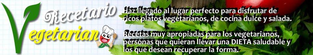 Recetario vegetariano
