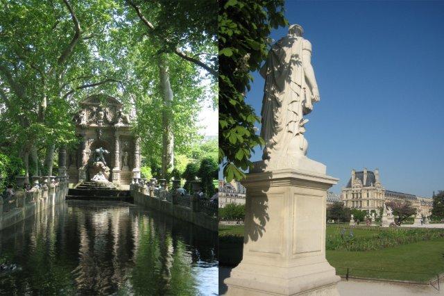 Jardin de Luxemburgo y Jardin de las Tullerias en Paris