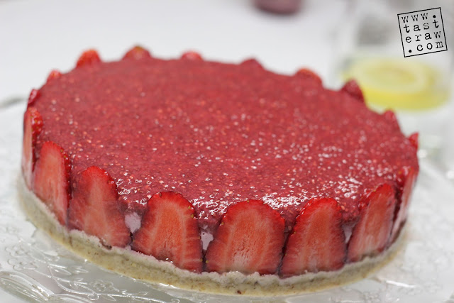 raw, presno, torta, cake, strawberries, jagode