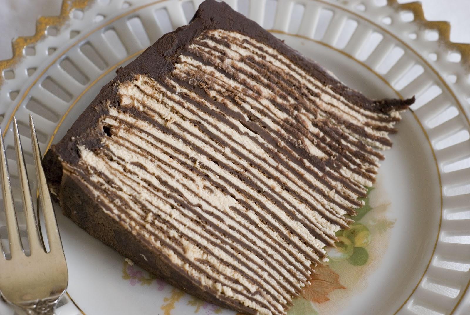 Crepe Cake With Chocolate Ganache