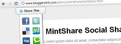 mintshare social share button