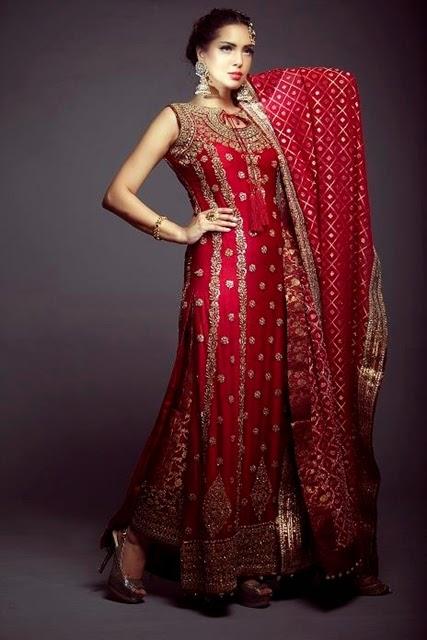 Pakistani Bridal Red Dresses