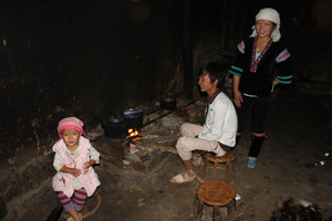 Kitchen of a H'mong family in Đào San