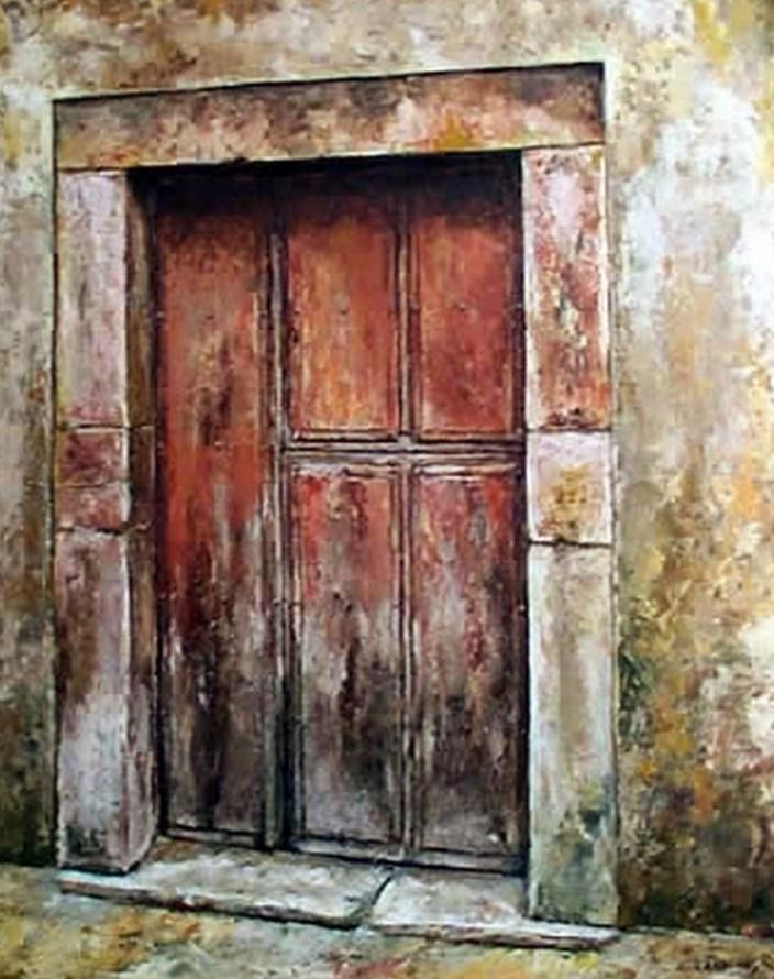 Pinturas cuadros lienzos cuadros de puertas antiguas for Pintura de tiza para puertas