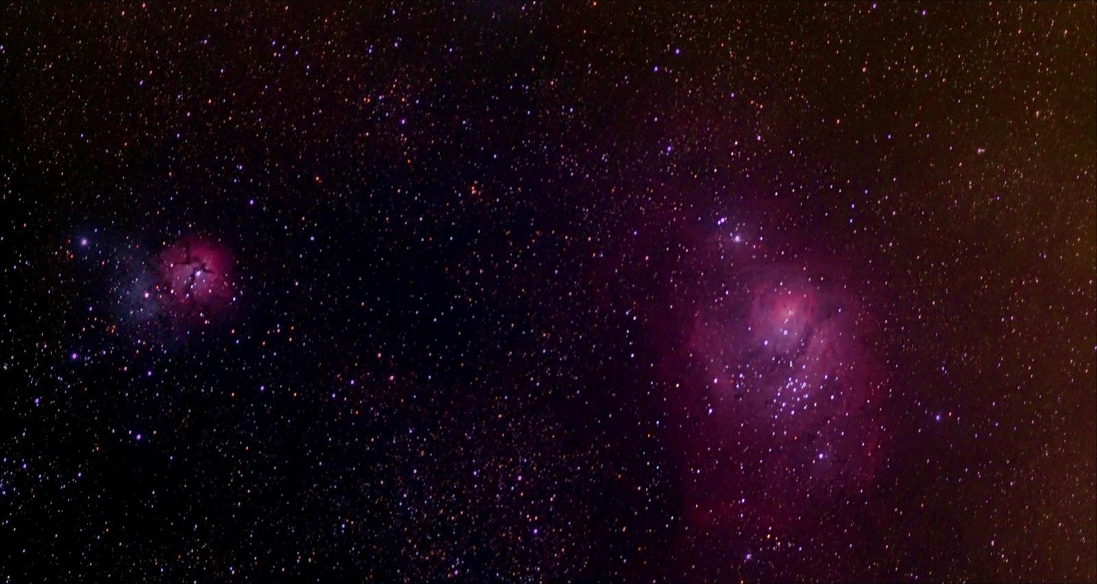 trifid and lagoon nebula - photo #29