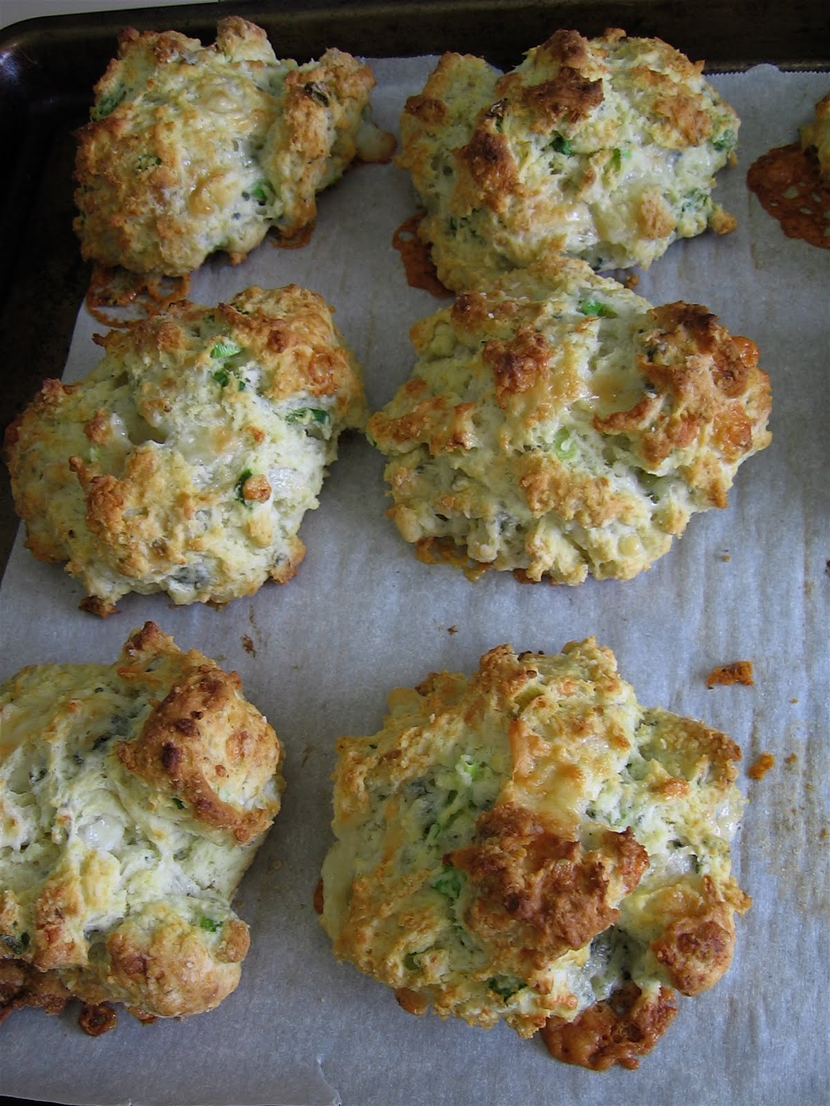 Blue Cheese Scallion Drop Biscuits Recipe — Dishmaps