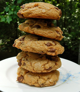 Homemade cookies with chocolate chips and bourbon
