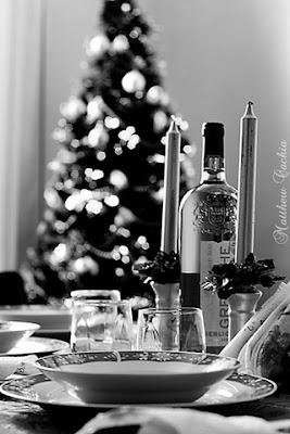 mesa en navidad
