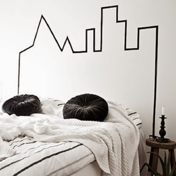 ma maison au naturel 20 id es pour peindre une t te de lit sur les murs. Black Bedroom Furniture Sets. Home Design Ideas