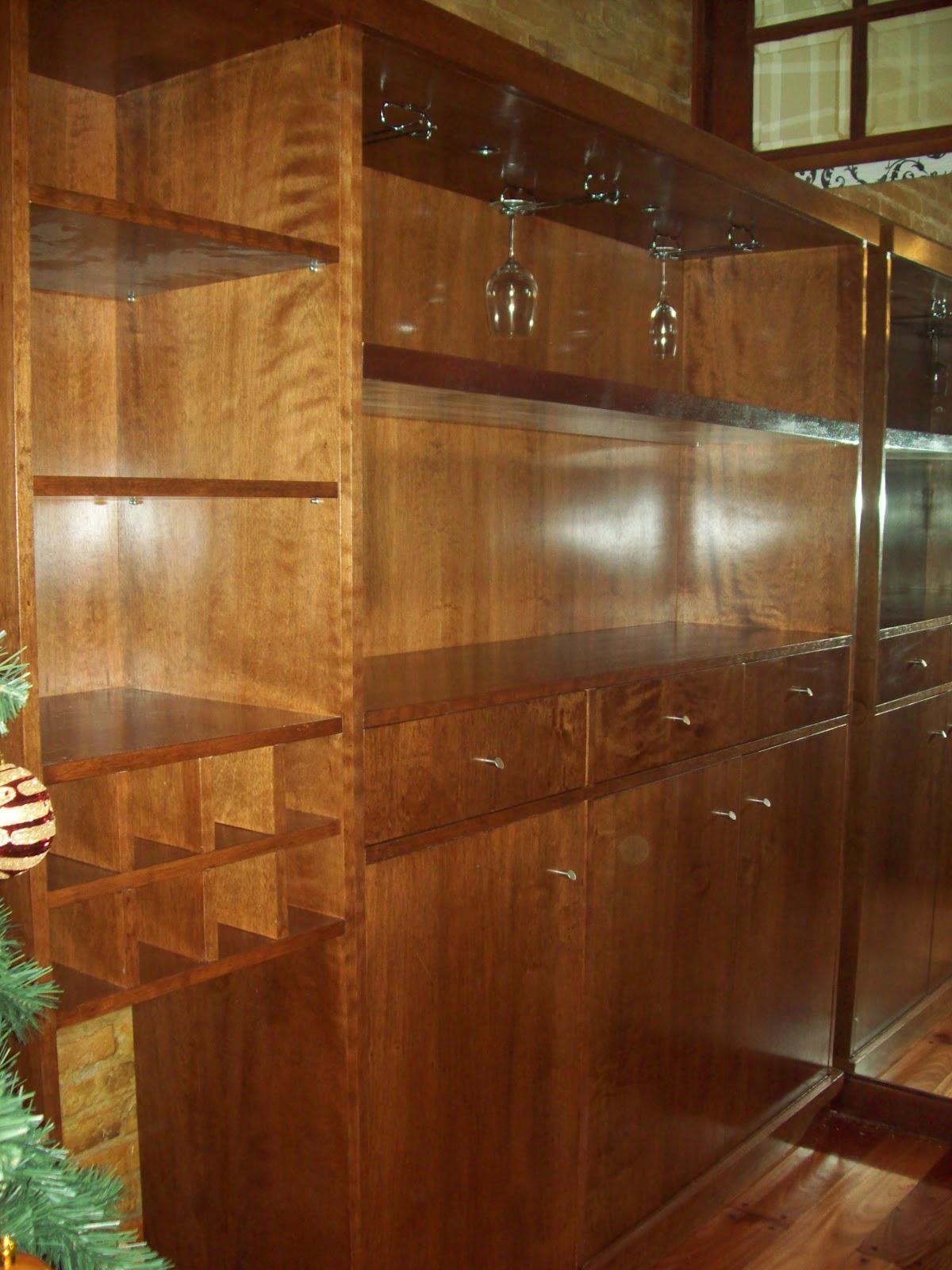 Dise o y madera muebles lustrados a medida - Muebles de madera a medida ...