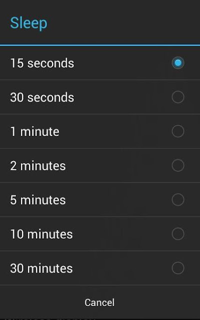Set phone's timer to low