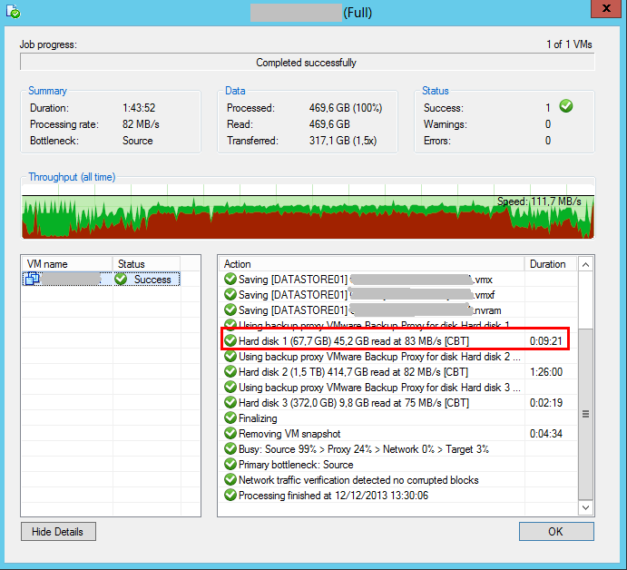 Veeam Backup: Problema CBT