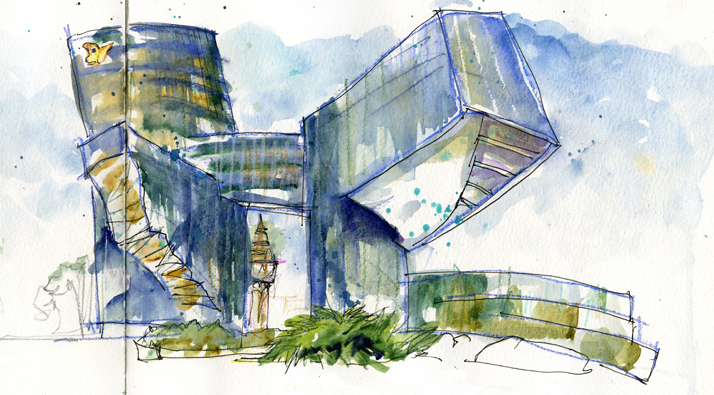 Modern Architecture Drawing fine modern architecture drawing photo abstract r to decorating