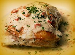 Muslos de pollo a la crema de perejil