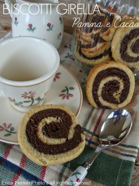Ricetta Biscotti girella panna e cacao