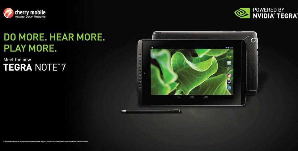 Cherry Mobile To Launch NVIDIA Tegra Note 7 This Saturday