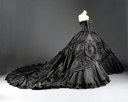 Gorgeously gothic galliano wedding dresses handmade for John galliano wedding dress