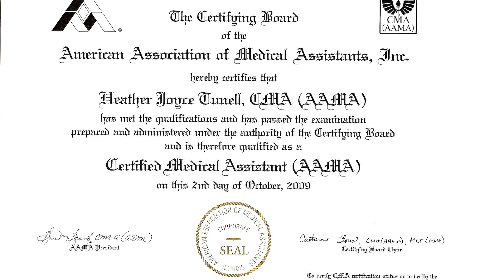 American association of medical assistants 1betcityfo Image collections