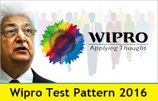 Wipro Test Pattern 2016