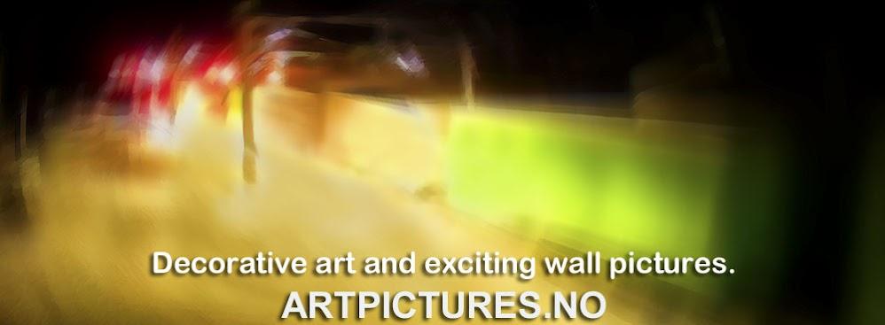 Spennende norsk billedkunst – moderne digital fotokunst og fargerike veggbilder.