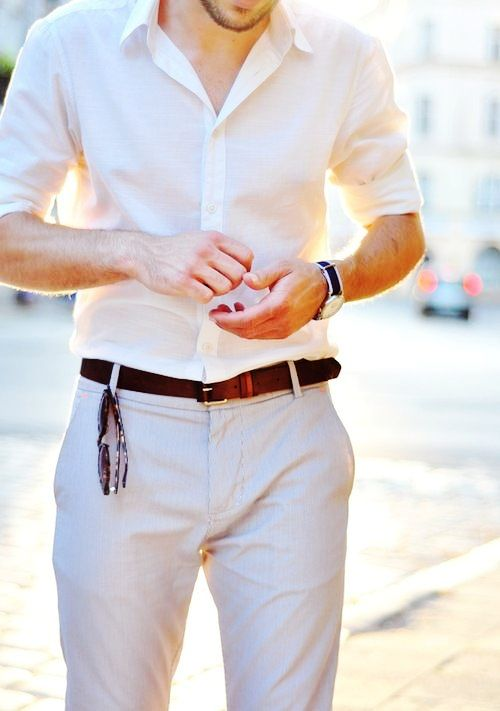 Cream Shirt And Beige Pants Colour Combination For Men Men S