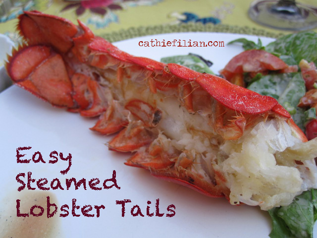 How to steam lobster tails ~ The Cathie and Eddie way