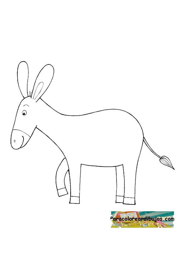 burro para colorear