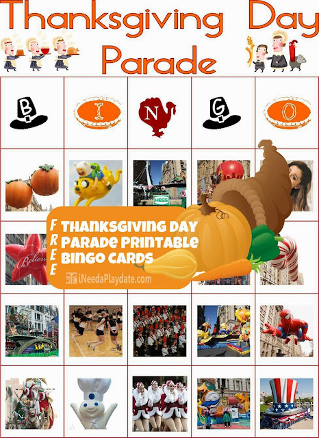Free Thanksgiving Day Parade Bingo